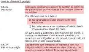 """Extrait du Règlement du Plan d'affectation partiel """"Les Plans"""""""
