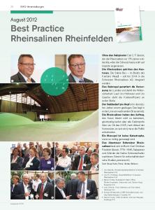 Die Saline Bex – im Besitz des Kantons Waadt – soll bis 2014 in die Schweizer Rheinsalinen AG integriert werden.