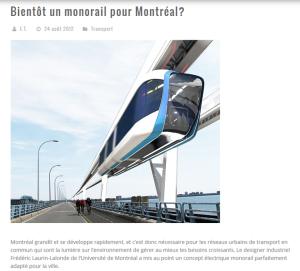 Bientôt un monorail à Montréal ? Comme à Villeneuve ?
