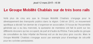Radio Chablais - 12 mars 2015
