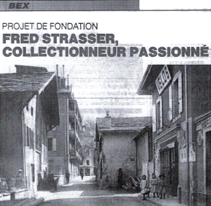Le magasin Strasser, à la Rue du Cropt, à Bex vers la fin des années 1890.
