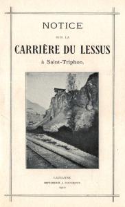 Notice sur la carrière du Lessus, publiée en 1910