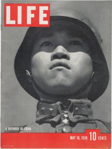 """Première couverture de Robert Capa dans """"Life"""" (1938)"""