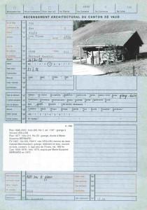 Fiche 724 du Recensement architectural du canton de Vaud
