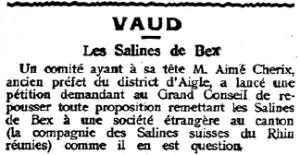 Tribune de Lausanne, 1916