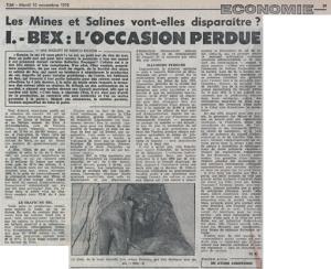 Les Mines et Salines vont-elles disparaître ?