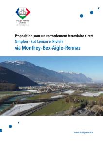 Proposition pour un raccordement ferroviaire direct Simplon - Sud Léman et Riviera via Monthey–Bex–Aigle–Rennaz