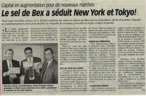 Le sel de Bex a séduit New York et Tokyo